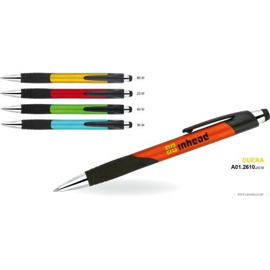 GTOLL MP müa. Duera metál matt színes tolltest, fekete ívelt gumifogó