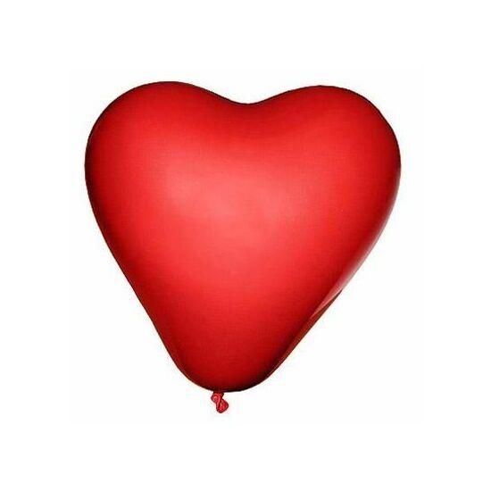 LUFI szív forma piros 25cm   10db/cs.