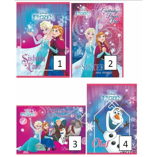 FÜZET A5 UNIPAP 2.oszt.16-32lap Frozen,Minion,Best Time,Friends,Goal and Fire (Frozen, UNFRO532V2)