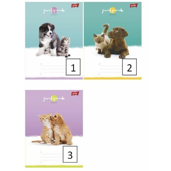 FÜZET A5 UNIPAP 2.oszt.16-32lap Frozen,Minion,Best Time,Friends,Goal and Fire (Friends, UNFRI532V2)