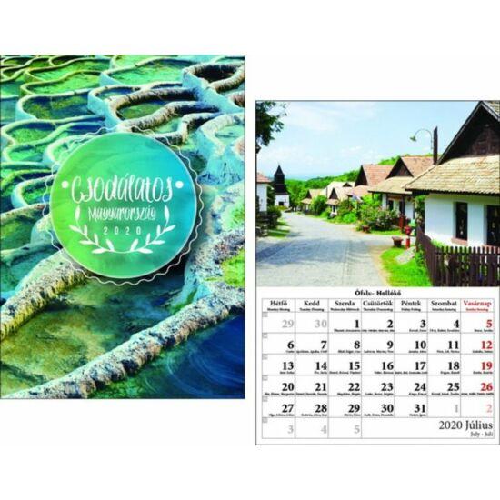 FALINAPTÁR 2020 Mo. Csodálatos Magyarország T-Calendar A4 tűzött