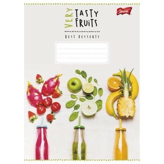FÜZET A5 UNIPAP kockás 96lap vegyes minta  Fresh Fruit, Very Tasty (Very Tasty, UNVT596K)