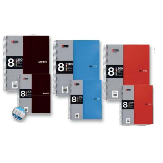 FÜZET spirál A4 MQ Note Book 8 reg. # PP  8x25lap  42005