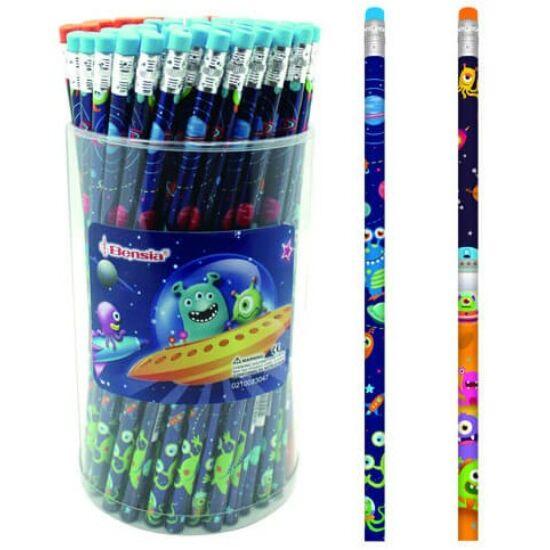 Grafit ceruza BENSIA radírral monster VENOI40