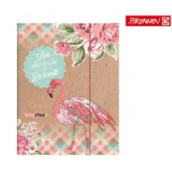 GUMIS DOSSZIÉ A4 Brunnen mintás Flamingó