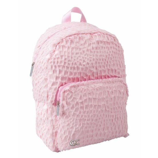 HÁTITÁSKA Quattro Colori Sparkle pink szőrös, 32cm, 7l