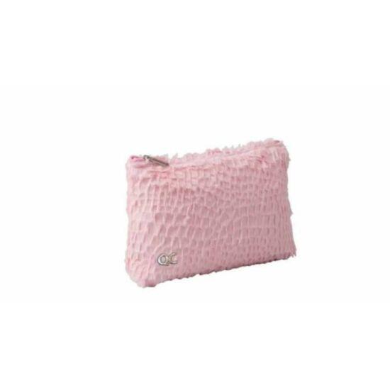 KOZMETIKAI táska Quattro Colori Sparkle szőrös, pink