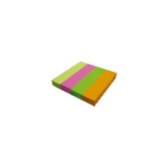 LAPJELÖLŐ Office Art neon 19x76mm  4*100lap  4szín