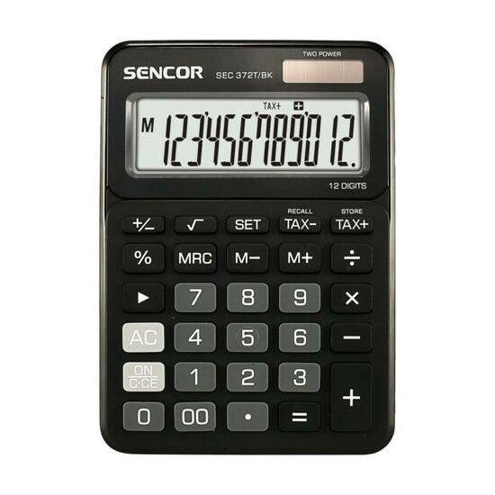SZÁMOLÓGÉP SENCOR asztali  SEC 372T/BK/WE/BU 12dig