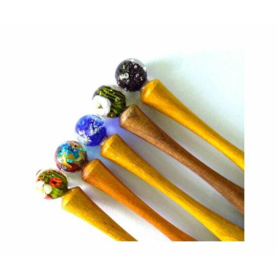 ÜVEGGÖMBÖS TOLL gömbön belüli mintával egyedi kézműves termék